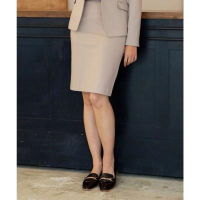 NARA CAMICIE 《セットアップスーツ対応》ポンチタイトスカート(ブラウン系)