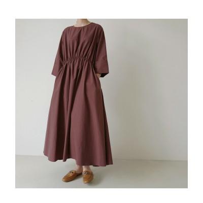 韓国ファッション/ワンピース レディース マキシ 長袖 ロング 大きいサイズ 無地 おしゃれ 可愛
