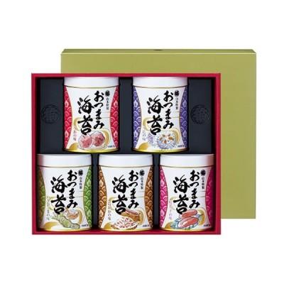 海苔 ギフト 山本海苔店 おつまみ海苔 5缶 詰め合わせ のり 高級 贈答品 手土産 お祝い 内祝い お返し お礼の品 食べ物 食品 ご飯のお供 プレゼント