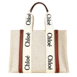 Chloe Woody tote bag帆布托特包(大號/焦糖咖色)
