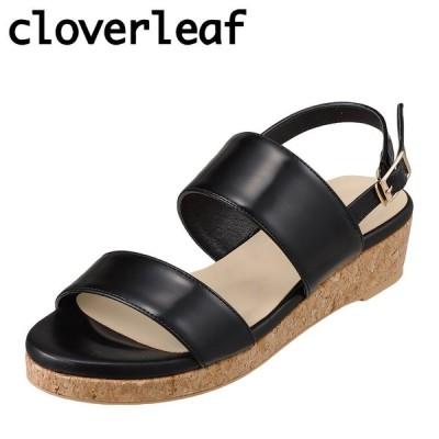 クローバーリーフ cloverleaf CL-1246 レディース | サンダル | ウェッジソール | エナメル | ブラック