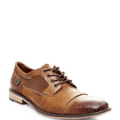 スティーブ マデン メンズ スニーカー シューズ Men's Jagwar Leather & Suede Oxfords Tan