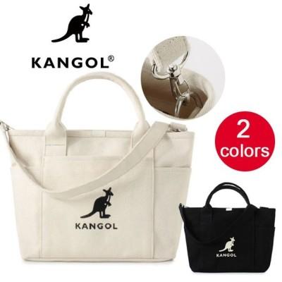 KANGOL カンゴール トートバッグ トート ショルダー バッグ ショルダーバッグ 2way 斜め掛け スナップ サイドポケット キャンバス送料無料