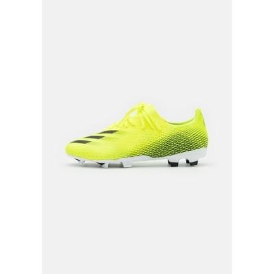 アディダス ブーツ&レインブーツ メンズ シューズ X GHOSTED.3 FG - Moulded stud football boots - solar yellow/core black/royal blue