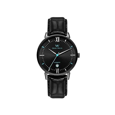Welly Merck 自動腕時計 日本製機械式ムーブメント 日付 41mm ステンレススチール 防水 ラグジュアリー アナログウォッチ サファイアク