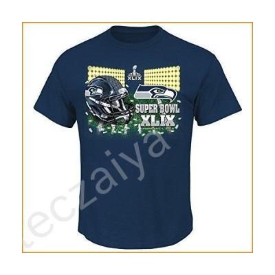 Majestic Seattle Seahawks NFL Super Bowl XLIX On Our Way S/S Men's T-Shirt並行輸入品