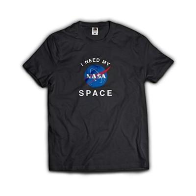 NASA公認Tシャツ(丸首・ラウンドネック)・インサイニア(ミートボール)・フルーツオブザルームボディJ3930HD (L ブラック)