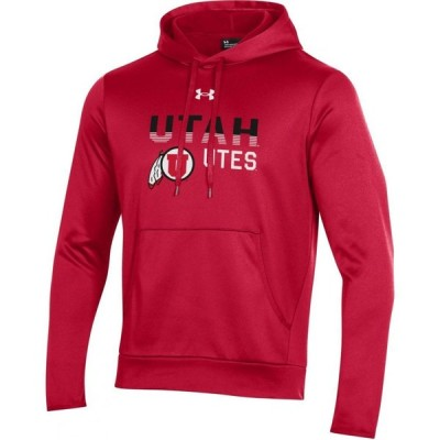 アンダーアーマー Under Armour メンズ フリース トップス Utah Utes Crimson Armour Fleece Pullover Performance Hoodie