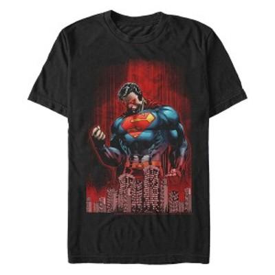 フィフスサン メンズ Tシャツ トップス DC Men's Superman Return of Krypton Short Sleeve T-Shirt Black