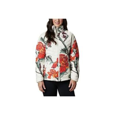 コロンビア Powder Lite Jacket レディース コート アウター Chalk Botanica Print