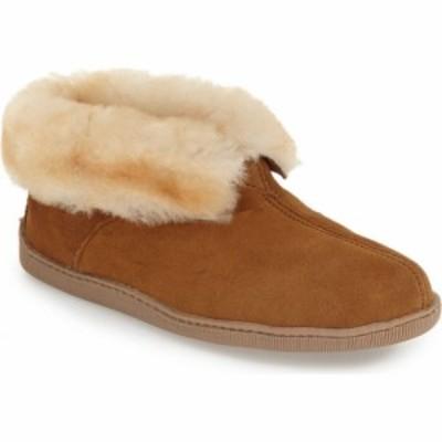 ミネトンカ MINNETONKA メンズ ブーツ ショートブーツ シューズ・靴 Genuine Shearling Lined Ankle Boot Golden Tan