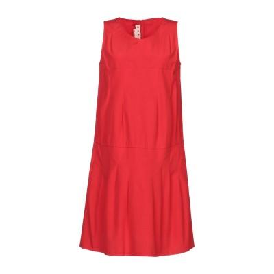 マルニ MARNI ミニワンピース&ドレス レッド 38 コットン 100% ミニワンピース&ドレス
