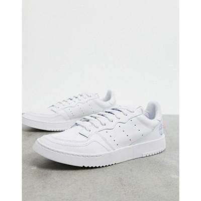 アディダス adidas Originals メンズ スニーカー シューズ・靴 Supercourt trainers in white & bluebird