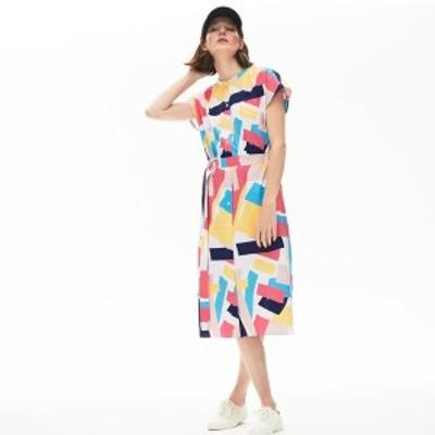 ラコステ(LACOSTE)/モダングラフィックデザインシャツドレス