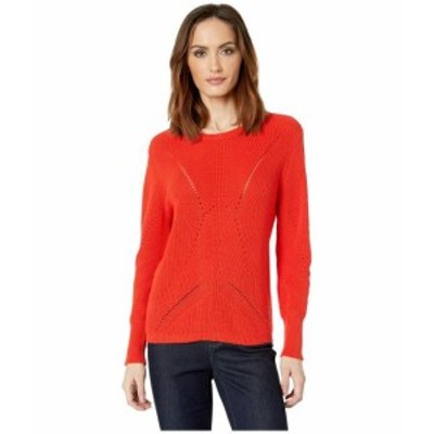 Vince Camuto ヴィンスカムート 服 スウェット Long Sleeve Lace Back Mock Neck Cable Sweater