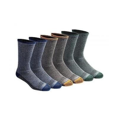 Dickies ディッキー メンズ 男性用 ファッション ソックス 靴下 スリッパ Dickies Men's Multi-pack Dri-tech Moisture Control Crew Socks - Heathered Colo..