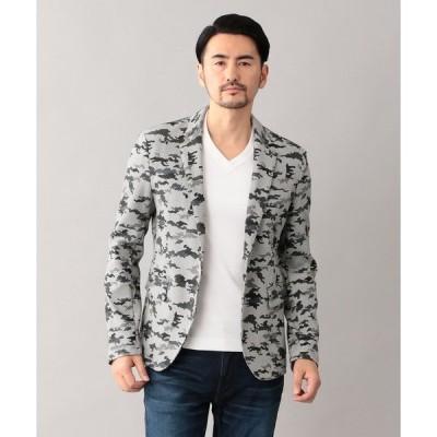 ジャケット テーラードジャケット カモフラプリント ジャケット