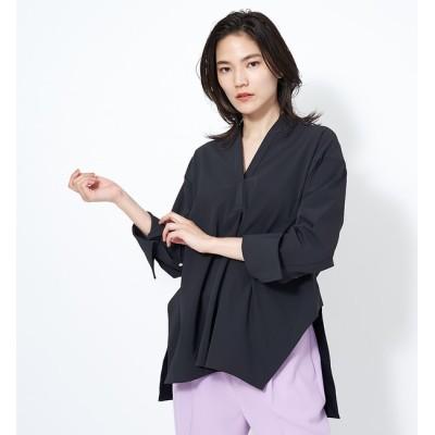 【カリテ/qualite】 【通勤・セットアップ対応】2WAYストレッチシャツ(無地)