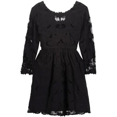 SEA ミニワンピース&ドレス ブラック 0 コットン 100% ミニワンピース&ドレス