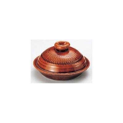 アメ釉(手造り)7.5号丸鍋 592-08-714