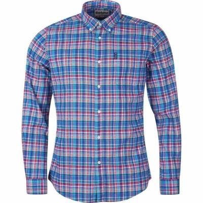バブアー Barbour メンズ シャツ トップス Highland Check 38 Tailored Shirt Blue BL