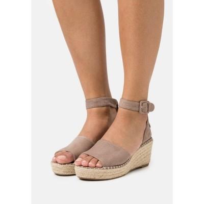 リフレッシュ サンダル レディース シューズ Platform sandals - taupe