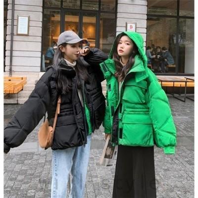 パーカーコート中綿韓国オルチャン原宿ストリート大人きれいめギャザースポーティーキルティング40代30代冬アウターレディース