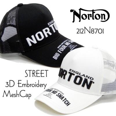 ノートンモーターサイクル メッシュキャップ Norton 帽子 ストリート3D刺繍 212N8701 新品