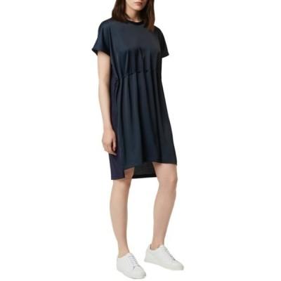 フレンチコネクション レディース ワンピース トップス Tamina Satin Mix Dress UTIL BLUE