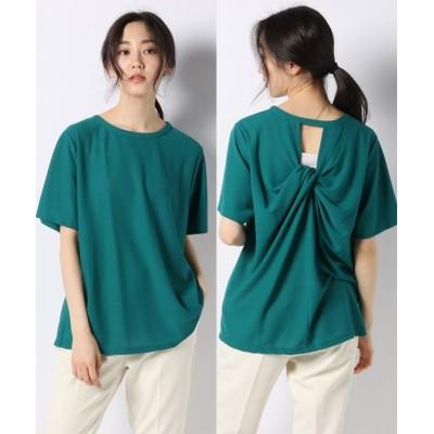 【アルアバイル】 アムンゼンバックツイストTシャツ レディース グリーン 02 allureville