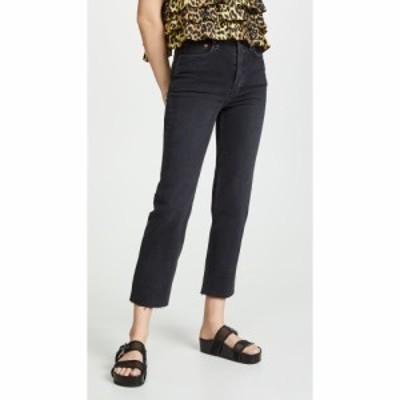リダン RE/DONE レディース ジーンズ・デニム ボトムス・パンツ High Rise Stovepipe Jeans Faded Black
