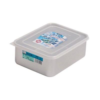 厨房用品 保存容器 / アルマイトクイッキー 深型 大(硬質アルミ) 寸法: 間口:246 x 奥行:190 x H88mm 容量:3.2L 質量:0.344kg