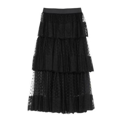 ドルチェ & ガッバーナ DOLCE & GABBANA 7分丈スカート ブラック 40 ナイロン 71% / コットン 29% 7分丈スカート
