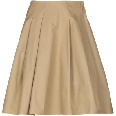RALPH LAUREN COLLECTION ひざ丈スカート カーキ 4 コットン 100% ひざ丈スカート