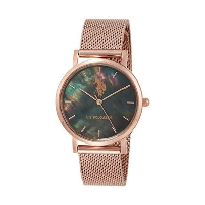 [ユーエスポロアッスン] 腕時計 US-4A-BRG レディース 正規輸入品 ピンクゴールド