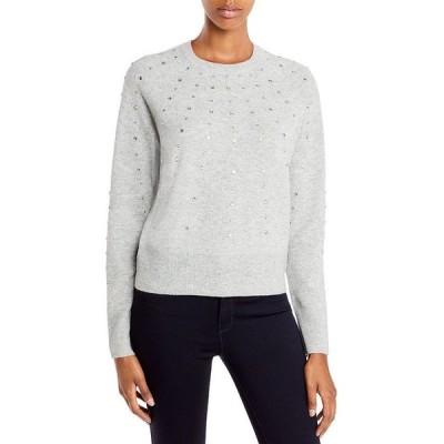 アクア レディース ニット・セーター アウター Rhinestone Cashmere Sweater - 100% Exclusive