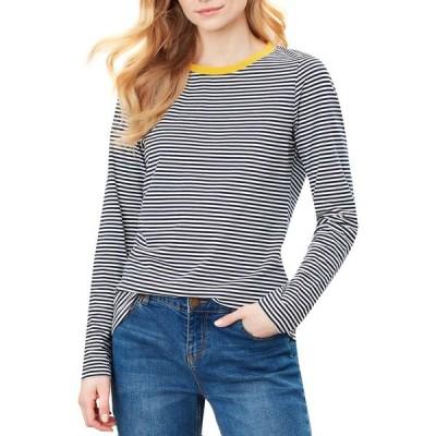 ジュールズ Joules レディース 長袖Tシャツ トップス selma long sleeve t-shirt Navy Cream Stripe