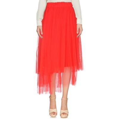 エムエスジーエム MSGM 7分丈スカート レッド 42 100% ナイロン 7分丈スカート
