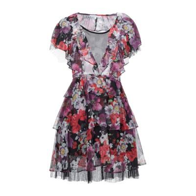 KORALLINE ミニワンピース&ドレス パープル 40 シルク 100% ミニワンピース&ドレス