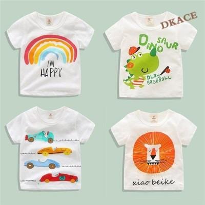 ロゴプリント 半袖Tシャツ カットソー キッズ 韓国子供服 ジュニア 子供服 男の子 女の子 ダンス
