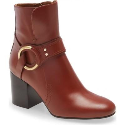 クロエ CHLOE レディース ブーツ シューズ・靴 Demi Ring Detail Bootie Sepia Brown