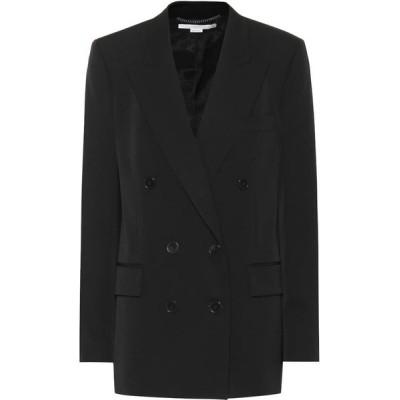 ステラ マッカートニー Stella McCartney レディース スーツ・ジャケット アウター Double-breasted wool blazer Black