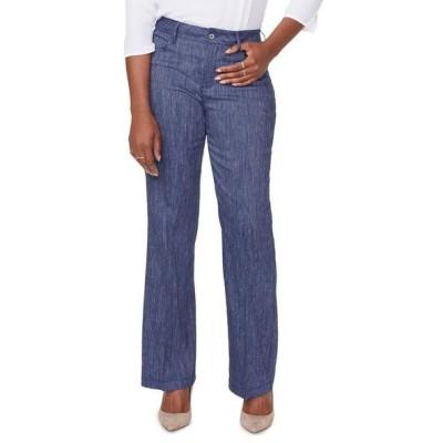 カーブス360 カジュアルパンツ ボトムス レディース Wide Leg Linen Blend Pants Agua Stripe