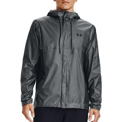 アンダーアーマー Under Armour メンズ フィットネス・トレーニング シェルジャケット ジャケット アウター Cloudburst Shell Jacket Pitch Gray/Black