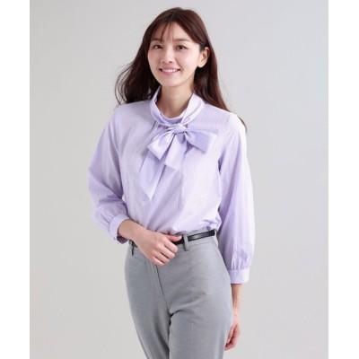 SANYO SELECT / 【ウォッシャブル】ストライプシャツ WOMEN トップス > シャツ/ブラウス
