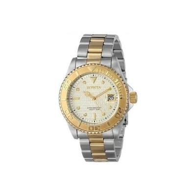 インビクタ 14343 ゴールド シルバー プロダイバー オートマチック ブレスレット メンズ 腕時計