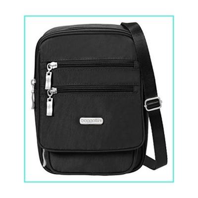 【新品】Baggallini Journey Crossbody Travel Bag, Black/Sand, One Size(並行輸入品)