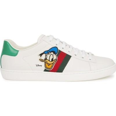 グッチ Gucci レディース スニーカー シューズ・靴 x disney new ace white leather sneakers White