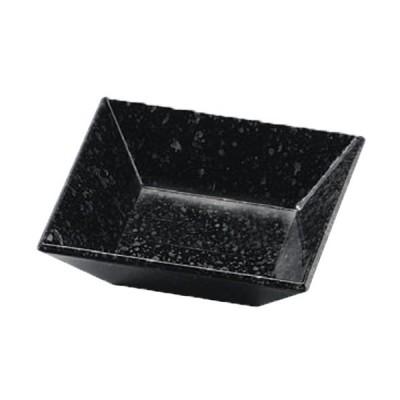 盛器 四方鉢 黒油滴裏黒塗 9cm四方皿 [9.1 x 9.1 x 2.4cm] PBT樹脂 食洗機可 (7-575-2) 料亭 旅館 和食器 飲食店 業務用