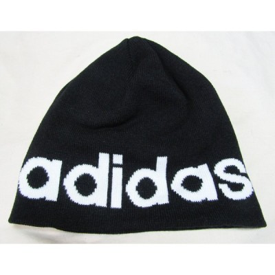 adidas ニット帽 ブラックロゴ大 DM6185